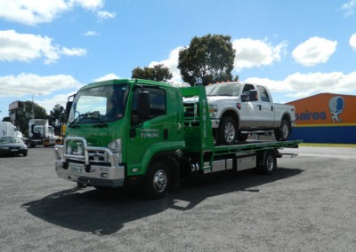Tilt tray truck with large ute